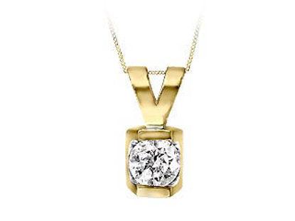 Image de Collier en or jaune avec diamant