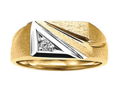 Image de Bague en or jaune et blanc avec diamant