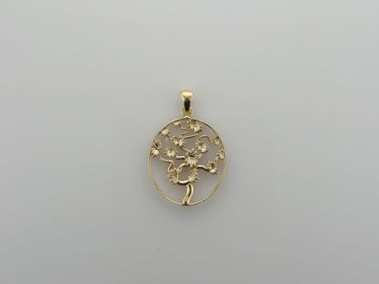 Image de Pendentif arbre de vie en or jaune 10KT