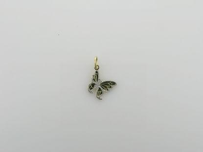 Image de Pendentif papillon en or jaune et blanc