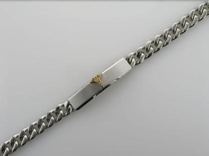 Image de Bracelet médical Gourmette en acier inoxydable