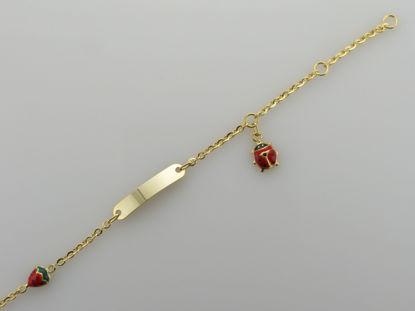 Image de Bracelet avec plaque en or jaune