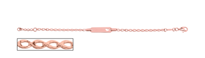 Image de Bracelet avec plaque en or rose