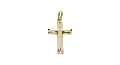 Image de Pendentif croix en or jaune